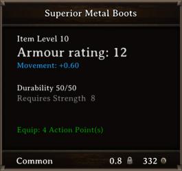 DOS Items CFTX 10.5 Superior Metal Boots