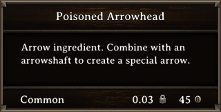 DOS Items CFT Poisoned Arrowhead Stats