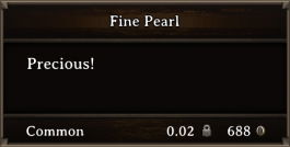 DOS Items Precious Fine Pearl