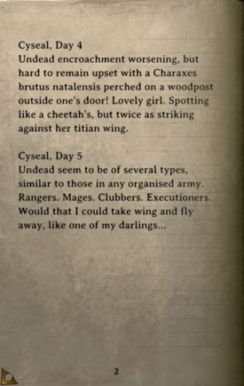 DOS Items Books Aureus' Diary Page2