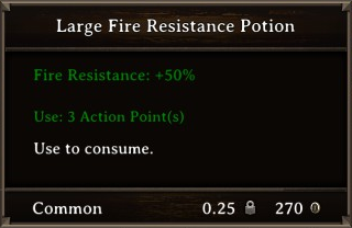 DOS Items Pots Fire Resistance Potion 2 Stats