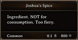 DOS Items CFT Joshua's Spice