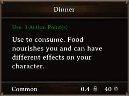 DOS Items FnD Dinner