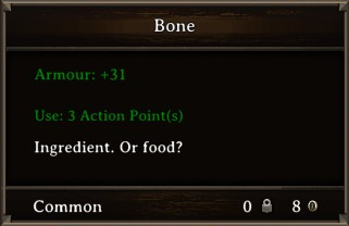 DOS Items Food Bone Stats