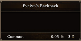DOS Items Quest Evelyn's Backpack