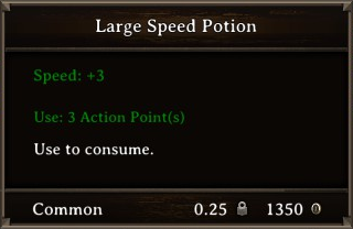 DOS Items Pots Large Speed Potion Stats