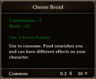 DOS Items Food Cheese Bread Stats