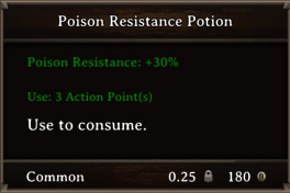 DOS Items Pots Poison Resistance Potion 2