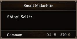 DOS Items Precious Small Malachite