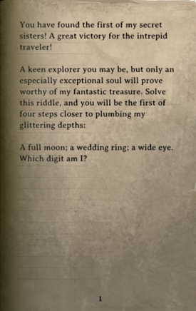 DOS Items Books Dusty Parchment (1st Chest) Page