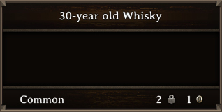 DOS Items Quest 30-Year Old Whisky