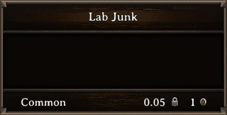 DOS Items Misc Lab Junk Stats
