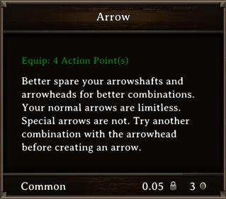 DOS Items Misc Arrow Stats