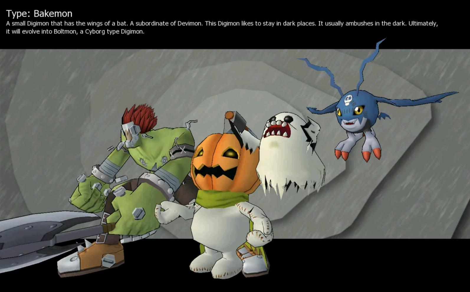 Demidevimon Evolution Line DemiDevimon  Bakemon line