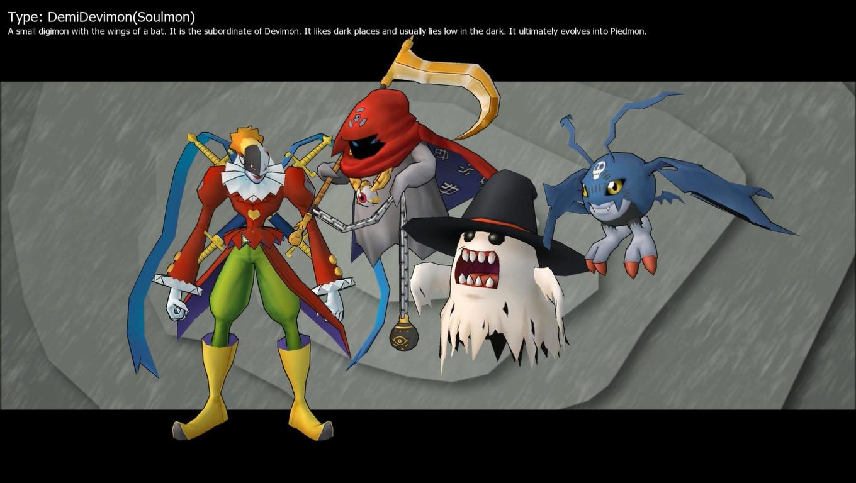 Demidevimon Evolution Line DemiDevimon  Soulmon line