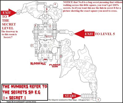 Secrets Map (Doom II - No Rest For Living - Map.04)
