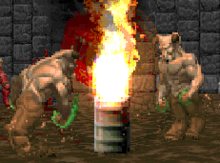 Flaming Barrel glitch