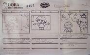 Happy-Happy-Joy-Joy-Art-And-Artifacts-From-25-Years-Of-Creator-Driven-Cartoons-Nickelodeon-Nick-Nicktoons-Exhibit-At-Cal-State-Fullerton-Dora-The-Explorer-Storyboard 3