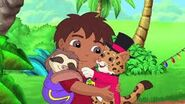 Diego and baby jaguar hug