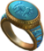 Ring blue jaguar warrior