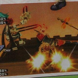 <center>Atoli joins Tokio to fight Gabi, a Boss.</center>