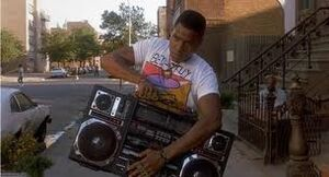 Perhaps the most famous BOOM BOX in movie history?