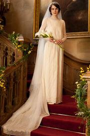 Downton abbey lady mary wedding dress
