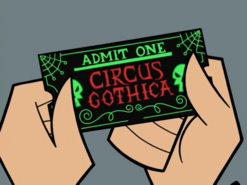 S01e20 Circus Gothica ticket