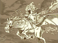 S01e13 flaming FK and his horse