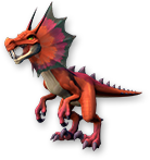 Scarlet-fangsaur