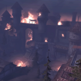 The City of Amaranthine on fire