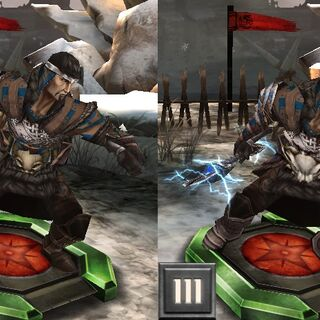 Tier progression of an Alamarri Warlord in <i>Heroes of Dragon Age</i>