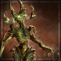 Artwork of a Greater Terror Demon in <i>Heroes of Dragon Age</i>