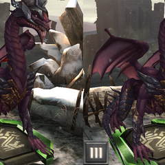 Tier progression of Flemeth's High Dragon form in <i>Heroes of Dragon Age</i>