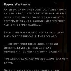 Upper Walkways landmark detail