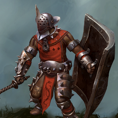 A Venatori Gladiator as seen in Heroes of Dragon Age