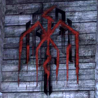 Hanged man graffiti