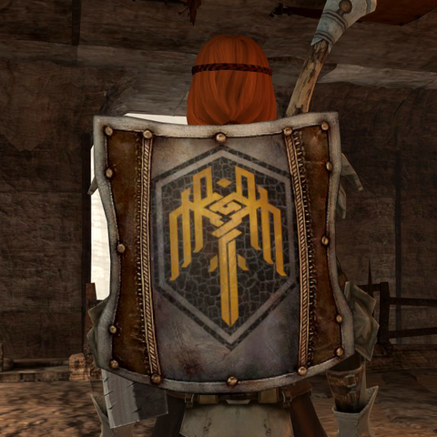 The Kirkwall Shield emblazoned with the city's sigil