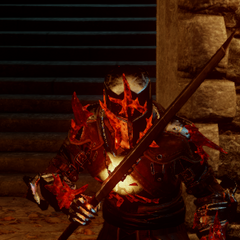Red Templar in an advanced state of corruption