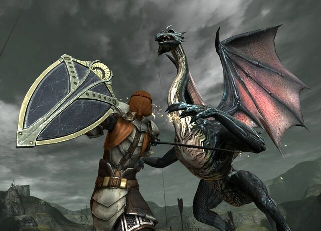 File:DA2 Mature Dragon in combat with Aveline.jpg