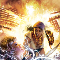 Isabela and Maevaris Tilani on the second issue's cover
