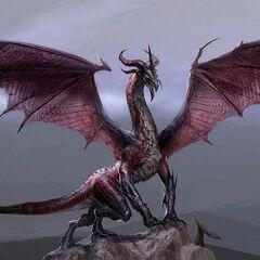 Concept art of Flemeth's unique High dragon form
