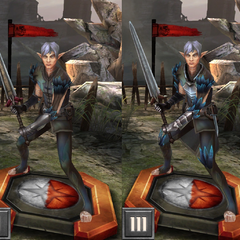 Tier progression of Fenris in <i>Heroes of Dragon Age</i>