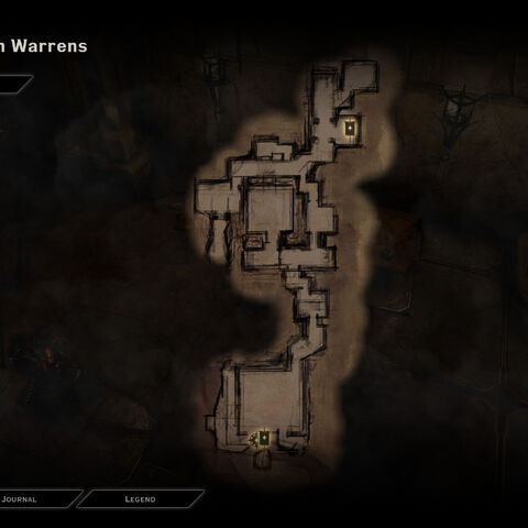 Map of the Darkspawn Warrens