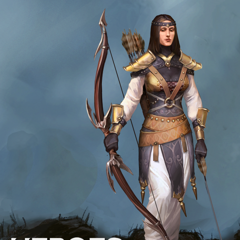 Artwork of Marjolaine from Heroes of Dragon Age