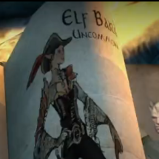 Evolved elven bard from Heroes of Dragon Age