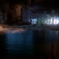 Cave under Caer Bronach.