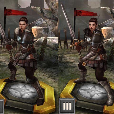 Tier evolution of Ser Cauthrien in <i><a href=
