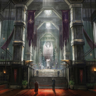 Concept art of the keep