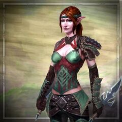 Artwork of Tallis in <i>Heroes of Dragon Age</i>